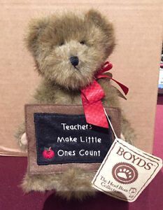 "Boyd's 8"" Teacher Plush Bear Teachers Make Little Ones Count"