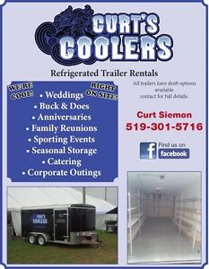 Cooler/Electric Refrigerated Trailer Rentals w/ Draft Option London Ontario image 9