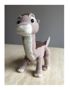 Crocheted Littlefoot plushie