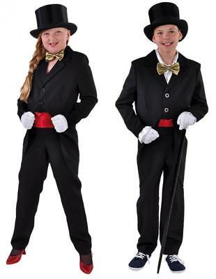 Frack Herren Damen Kinder Kostüm Anzug Show Bühne Cabaret Kabarett Theater - Kabarett Kostüm Kinder