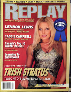 """Rare magazine from Winter 2002 """"Replay"""" with WWE diva"""