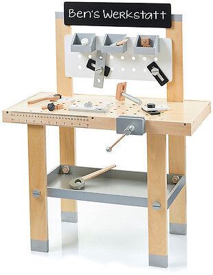 Sun Werkbank aus Holz Holzwerkbank Kinder Werkstatt Kinderwerkbank Werkzeug NEU