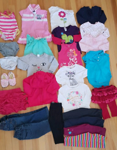 Baby girl clothing lot 12 months