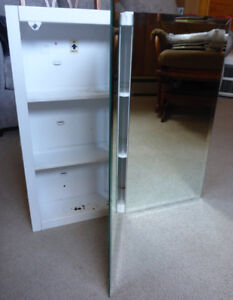 Used mirror cabinet &matching lights