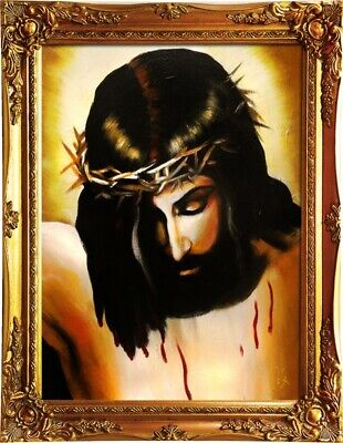 Religion Jesus Christus Handarbeit Ölbild Bild Ölbilder Rahmen Bilder G01606
