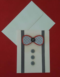 Handmade Cute Bow Tie Cards For Sale!