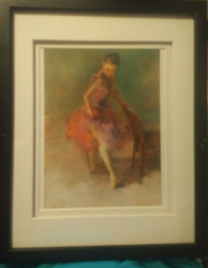 """framed Hui Chen seriolothograph """"Practice II"""" with COA"""