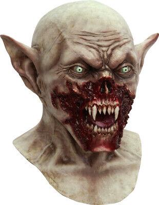 Scary Zombie Vampire Mask Deluxe Bloody Demon Killer Latex Halloween Costume - Vampire Killer Halloween Costume