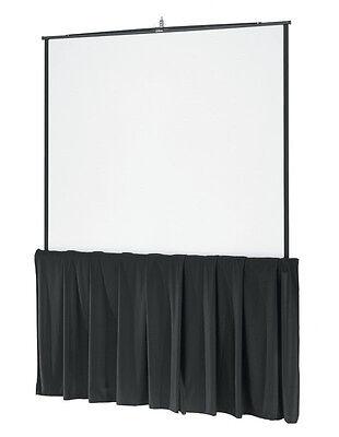 "96"" Tripod Screen Skirt 8ft - Used with Da Lite, Elite, Draper"