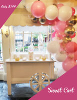 Candy Sweet Cart, Face painting, Balloon twisting, Photobooth