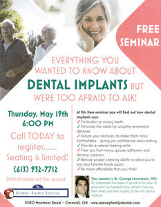 FREE SEMINAR - LEARN ABOUT THE BENEFITS OF DENTAL IMPLANTS