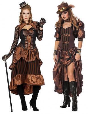 Burlesque Barock Rokoko Steampunk Halloween Damen Baronin Marquisin Kostüm Kleid