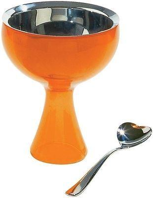 A di Alessi - AMMI01S O Big love, Ice cream bowl, ice cream spoon - Orange Big Love Ice Cream Bowl
