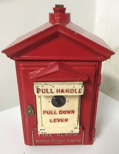 Antique Red Fire Box Alarm