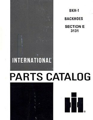 International 3131 Backhoe Hoe 504 606 2504 2606 424 444 2424 2444 Parts Manual