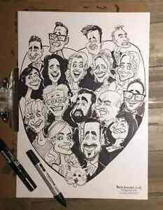 the portrait art and alive caricature show