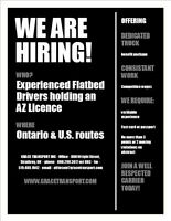 Fleet Expanding - AZ Flatbed Drivers Needed