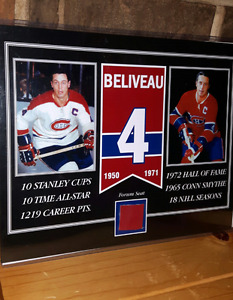 John Beliveau Montreal Canadiens picture with Forum Seat