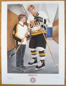 *** BOBBY ORR BOSTON BRUINS ~ NHL Original 6 Posters ~ 1988