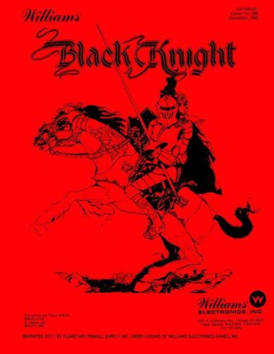 Black Knight Pinball Manual w/Instruction Booklet Williams - Red Edition PPS SC