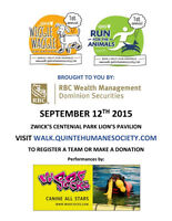 WIGGLE WAGGLE WALKATHON FOR HOMELESS ANIMALS