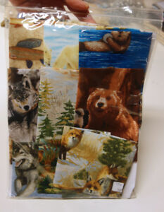 Realistic Animals Cotton Quilt Fabric Stash #2