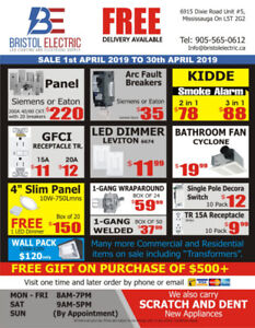 SALE - ELECTRICAL SUPPLIES