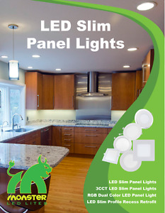 LED 4'' Slim panel/pot light 9W=50W cUL certified IC Rated