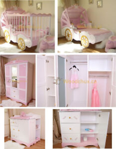 ♥‿♥ .. ROYAL BABY CARRIAGE Convertible Bedroom Set ... ♥‿♥