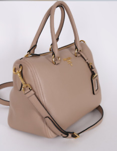 Prada - Bauletto Vitello  Phenix  Leather Bag - Cammeo