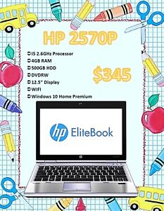 BACK TO SCHOOL SALE - HP Elitebook 2570P Only $345!