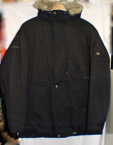 Columbia Black Down Parka with Down Hood *Best Winter Coat XL