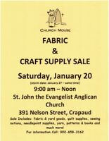 FABRIC, KNITTING YARN, SEWING NOTIONS AND CRAFT BOOKS