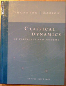 Classical Dynamics 5th edition Thornton Marion