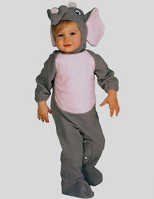 Baby Elephant Elefant Kostüm Kinder 6-12Monate Kleinkinder Fasching Karneval NEU