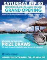 CENTRE HOLIDAYS CORNWALL GRAND OPENING EVENT!