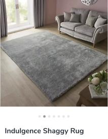 Dunelm rug charcoal 120x170cm