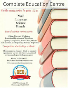 Tutoring at Complete Education Centre - Mississauga/GTA