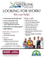 LOOKING FOR WORK? WE CAN HELP
