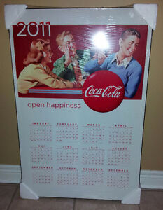 Collectible 2011 Coca Cola wooden calendar wall hanging