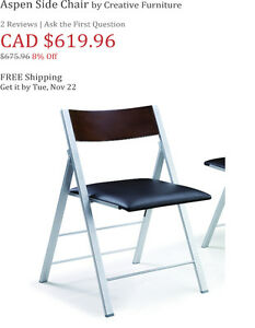 Four upscale folding chairs