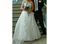 Elle white wedding dress