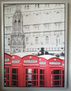 Canvas framed London Telephone Box Picture from IKEA