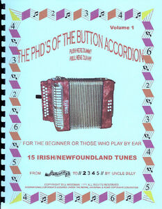 "PLAY BY NUMBERS ""BUTTON ACCORDION BOOK"""