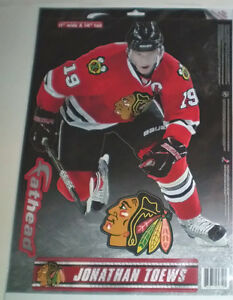 Chicago Blackhawks Toque and Jonathan Toews Fathead Wall Decal London Ontario image 2