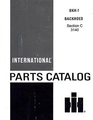 International 3140 Backhoe For 504 606 340 460 2504 2606 3414 T-340 Parts Manual