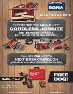 Milwaukee Tool Sale - Thurs Sep 27 - Moffatt and Powell Exeter