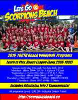 Play Scorpions Beach Youth Beach Volleyball