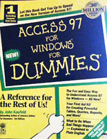 364 Page Paperback 'Access 97 for Windows for Dummies'