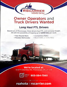 Long Haul Driver/Dedicated runs to Canada and USA